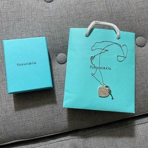 Tiffany and co Heart tag with key pendant necklace